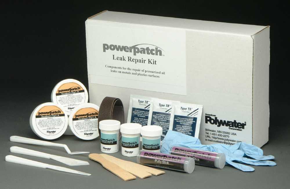 PowerPatch® Leak Repair System blocks oil seepage from Paper