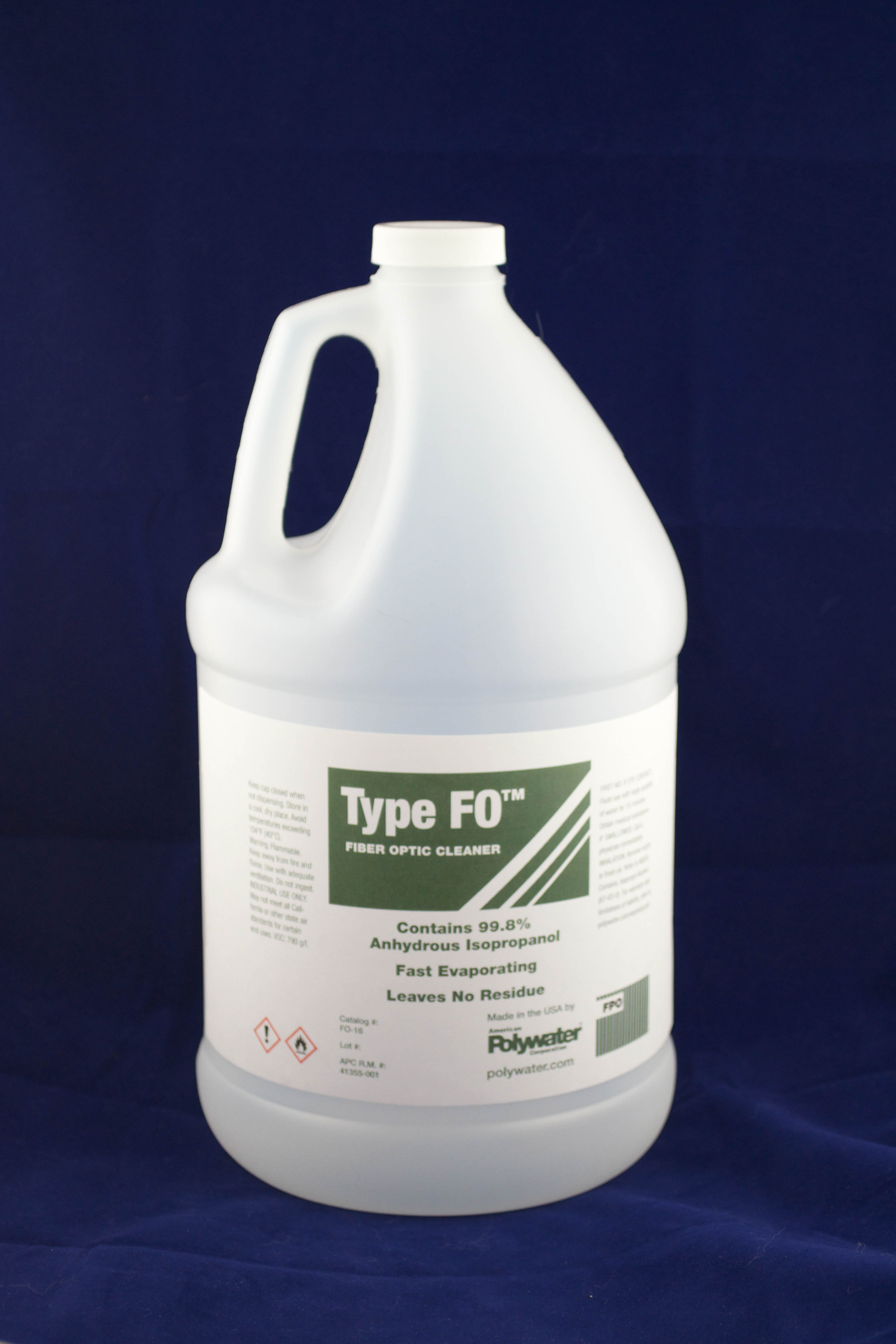 FO-128 AM-POLYWATER 1-GAL TYPE FO ISOPROPYL ALCOHOL FIBER CLEANER 02786805425
